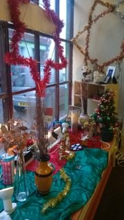 Window display from or annual charity shop sale