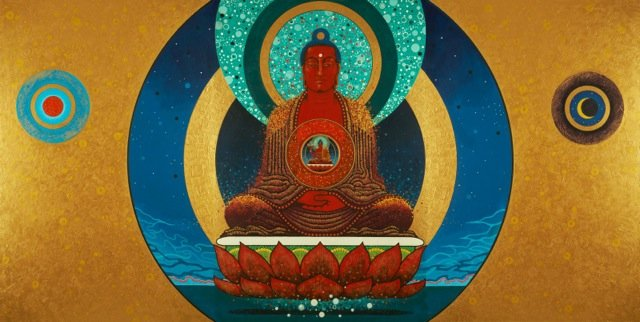 painting of Amitabha Buddha by Aloka